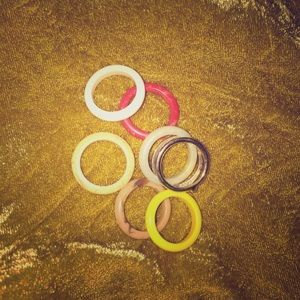 💍VINTAGE RINGS WITH COLORFUL INSERTS💍